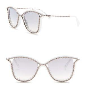 Marc Jacobs | White Twist Squared Sunglasses